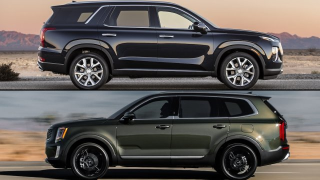 Kia Telluride vs Hyundai Palisade side by side photos | Kia